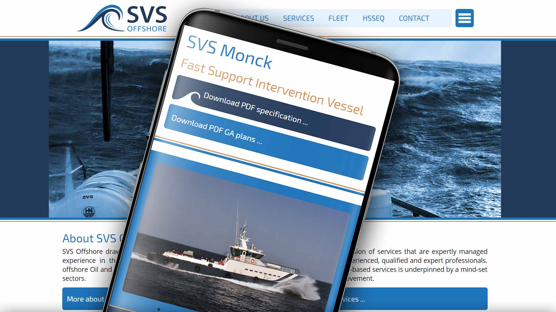 Website Development SVS Offshore